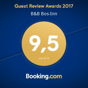 Booking.com Guest Review Award 2017. Bos-Inn scoort een 9,5