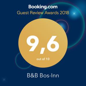 Booking.com Guest Review Award 2018. Bos-Inn scoort een 9,6